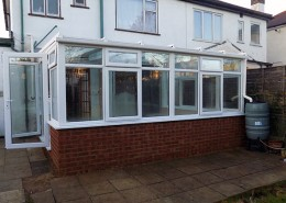 UPVC conservatory in white