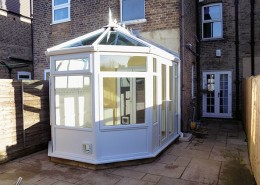 White UPVC conservatory in Enfield