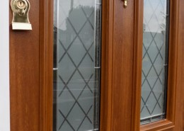 Wood effect solidoor composite door