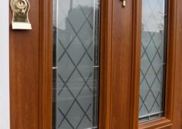 Wood effect solidoor composite door