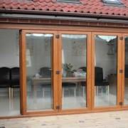 Wood effect UPVC Bifold door