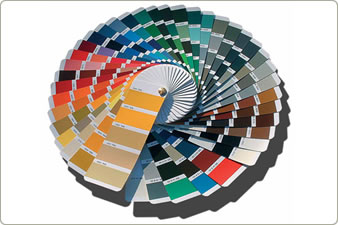 Timber window colour chart