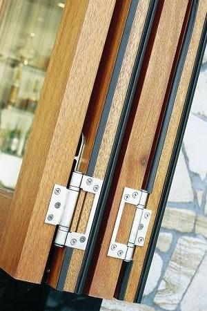 Timber bi-fold hinge