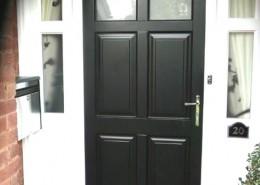 Wood front door