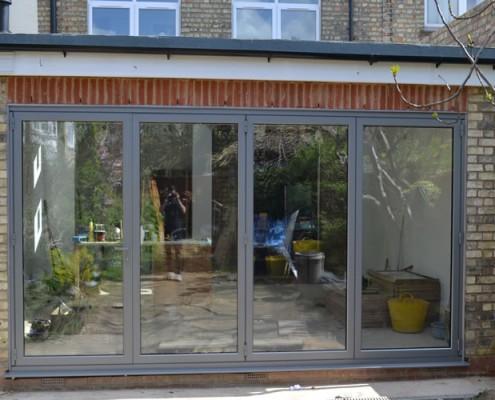 Grey bofold doors installation