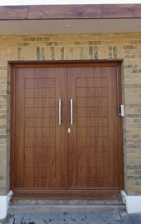 Double glazing bifold doors and composite door for Front door installation