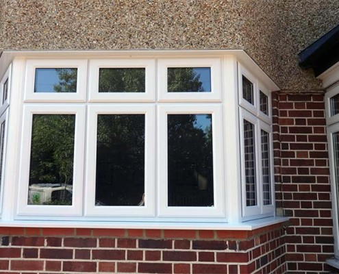 UPVC white double glazed window