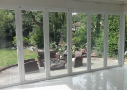 Bifold doors closed