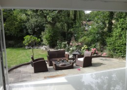 Bifold doors open