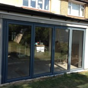 Origin bifold door installation exterior