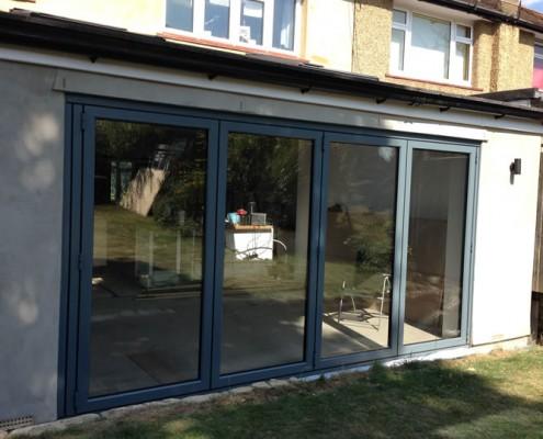 Origin bifold door installation exterior