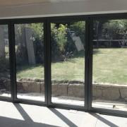 Origin bifold door installation interior