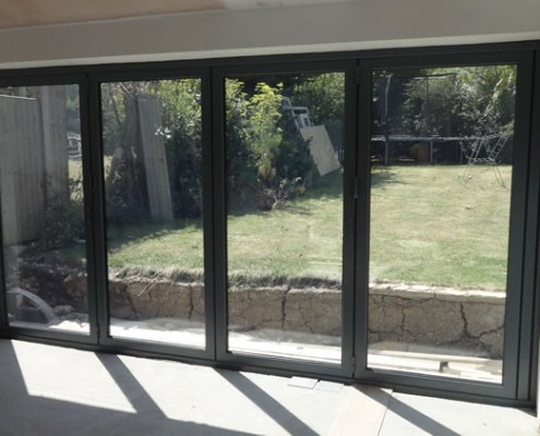 Origin bifold door installation interior