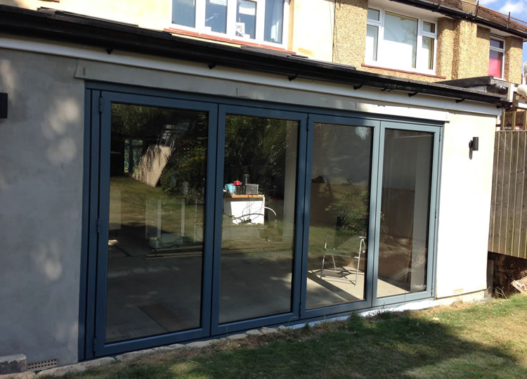 Origin bifold door installation in Enfield, north London.