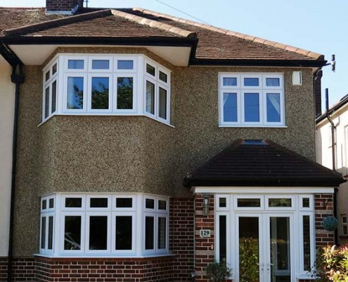 White UPVC double glazed windows