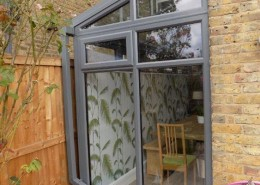 Exterior of grey upvc conservatory