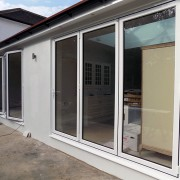 White bifolding doors