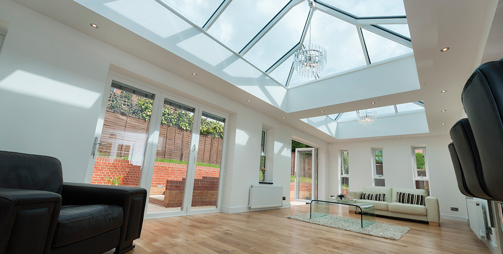 how to clean inside skylights