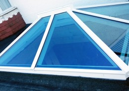 white skylight install