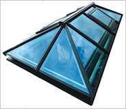 Black framed skylight