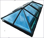 Black framed skylight