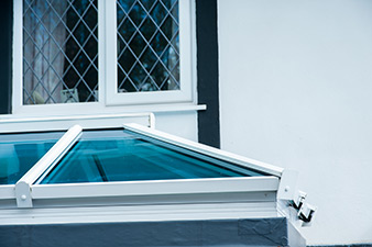 Exterior close up of skylight