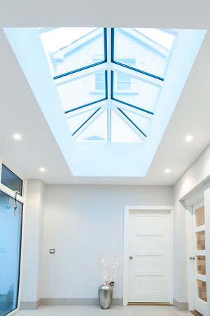 Interior with skylight