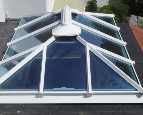 White skylight installation Enfield