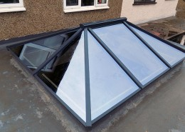 Exterior of grey skylight