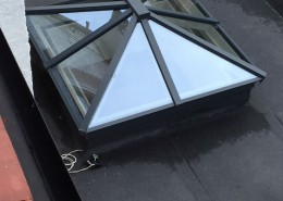 Small single skylight installation
