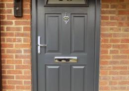 New grey composite door installation