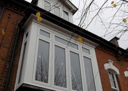 Large R9 flush casement window