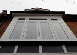 White R9 flush casment window