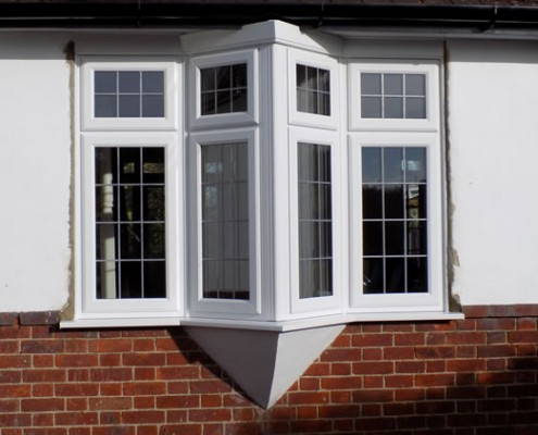UPVC window on angle