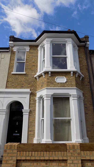 white timber sash windows