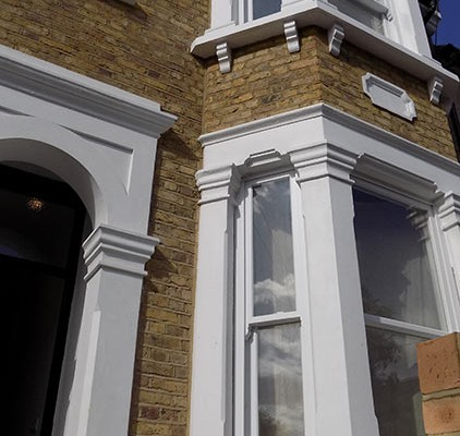 White sash timber windows
