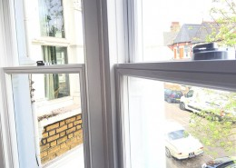 Timber sash window bay internal