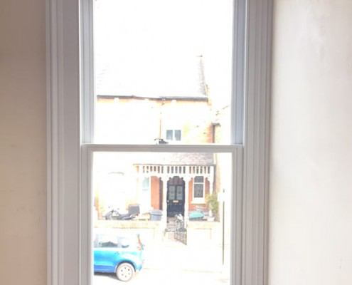 Timber sash window internal