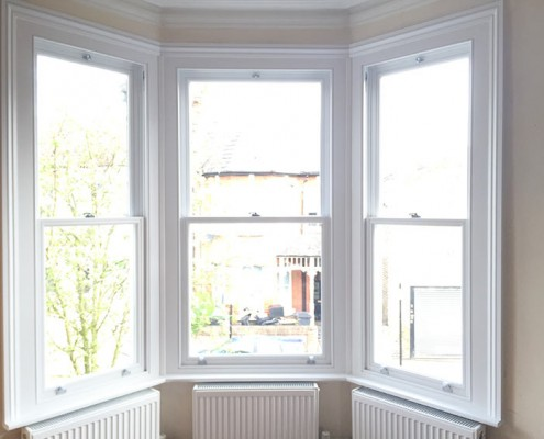 White bay timber windows internal