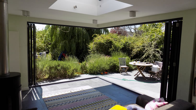 Upvc Sliding Patio Doors >> Corner bifold door installation in Muswell Hill, north London