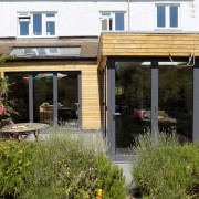 Three sets of grey bifold doors