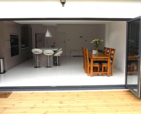 Origin grey bifold doors