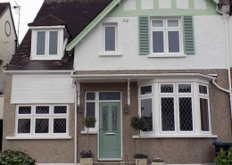 Residence 9 windows at front of house