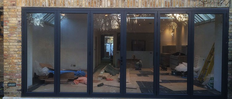 Six part bifold door installation