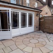 Timber bifold door installation in Ealing