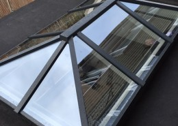Black aluminum skylight london