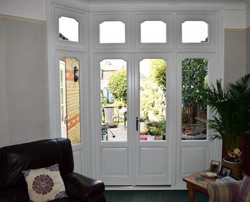 Timber doors interior view