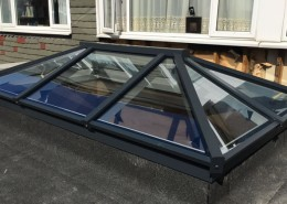 Black skylight installation