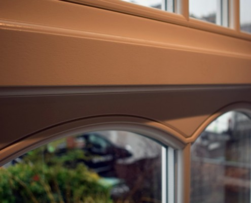 Astagal glazing bars in timber window