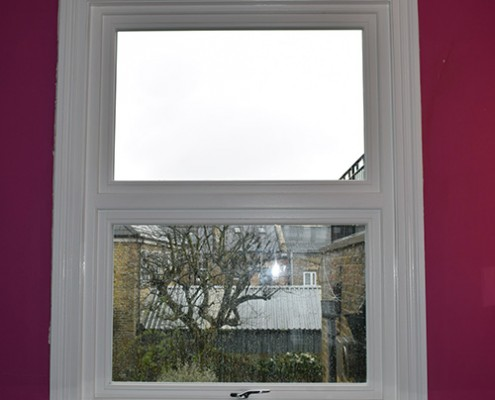 Timber casement window interior view